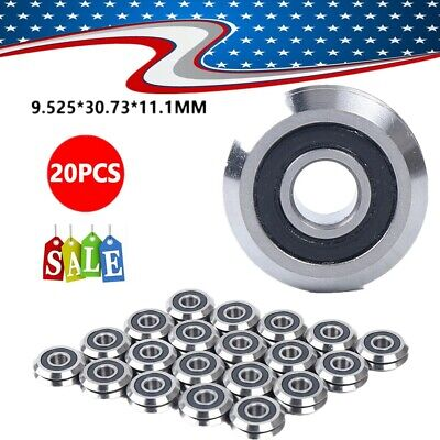 20pc New Rm2-2rs 38 9.52530.7311.1mm V Groove Sealed Ball Vgroove Bearing