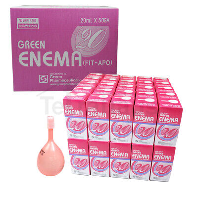 Green Enema Laxative 50 Bottles 6.8 fl oz. (1000ml) Ready-to-Use Easy Squeeze