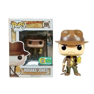 Funko Pop Indiana Jones #199 Metallic ECCC 10 inch Collection Model Figures Toy