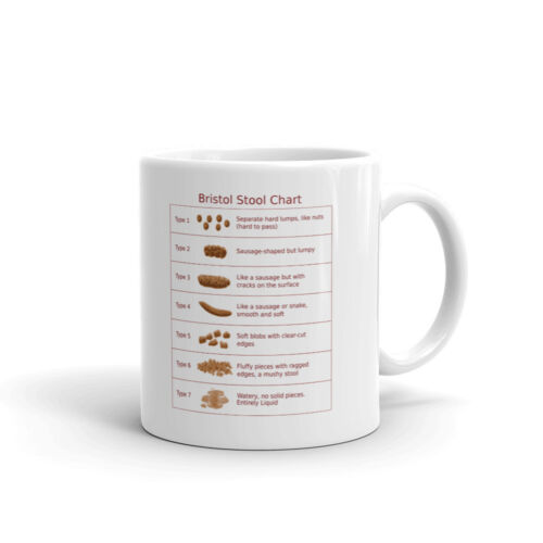Bristol Stool Chart Care Poo Funny Coffee Tea Ceramic Mug Of