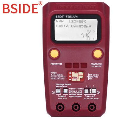 Bside Esr02pro Digital Esr Meter Smd Components Tester Diode Triode Capacitance