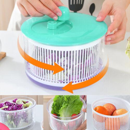 Salad  Spinner Vegetables Leaf Lettuce Dryer Drainer Fruit W