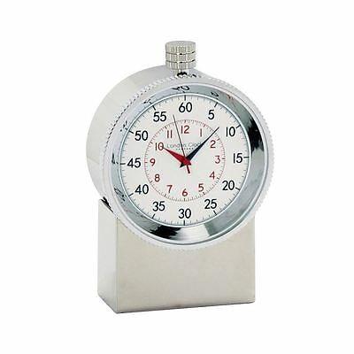 London Clock Co 8cm Chrome Finish Nautical Quartz Clock