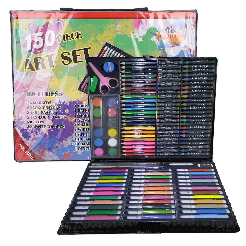 150x Art Set Kit For Kids Adults Supply Drawing Painting Sta