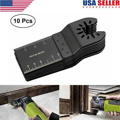 10pcs 34mm Universal Oscillating Multi Tool Saw Blades Carbon Steel Cutter Black