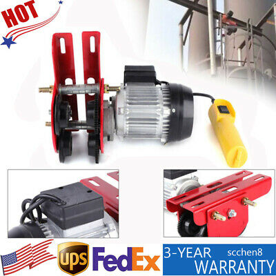 0.5t Electric Wire Rope Hoist Trolley 4ft Lifting Crane With I-beam Links 200w