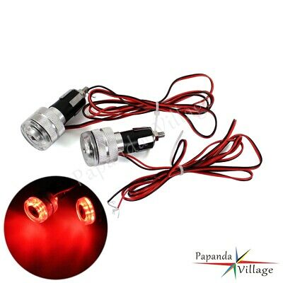 LED Handle Bar End Indicator Grip Plug Turn Signal Light Motorcycle For Harley