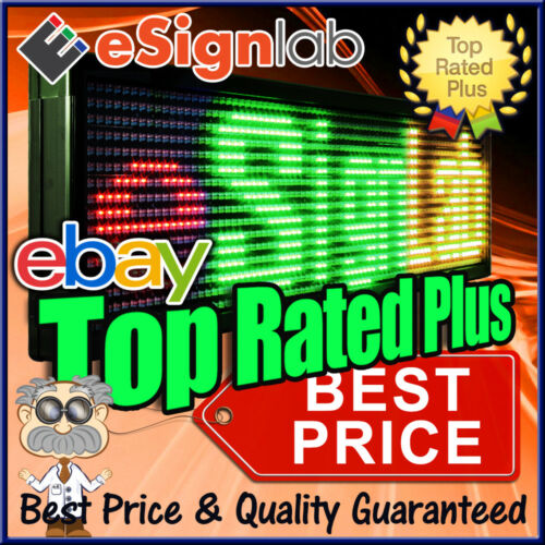 "Led Sign 3 Color Rgy 15"" X 78"" Pc Programmable Scrolling Message Display"