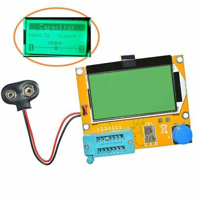 Lcr-t4 12864 Lcd Graphical Transistor Tester Resistance Capacitance Esr Meter Us