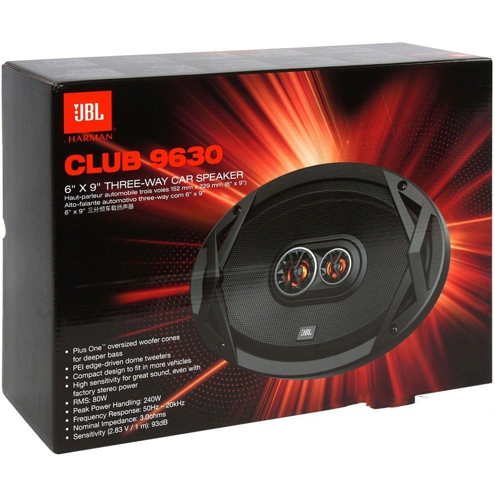 """JBL Club 9630 480 Watt 6x9"""" Club Series 3-Way Coaxial Car Sp"""