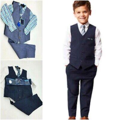 Andy & Evan Boy's Premium 4 Pc Dress-Up  Vest Set Navy/White Pick Style & Sz (Andy Styles)
