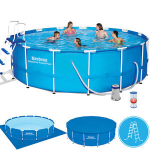 swimming pool stahlwand stahlwandbecken ebay. Black Bedroom Furniture Sets. Home Design Ideas