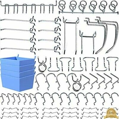 Pegboard Hooks Accessories Board Attachments Set With Bins Locks Home