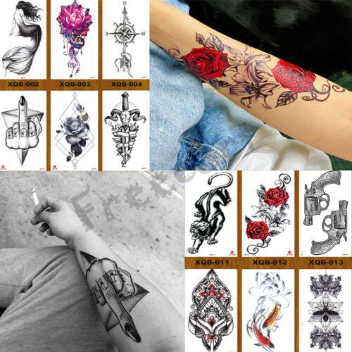Temporary Tattoos Body Arm Tattoo Sticker Half Sleeve Fake Waterproof