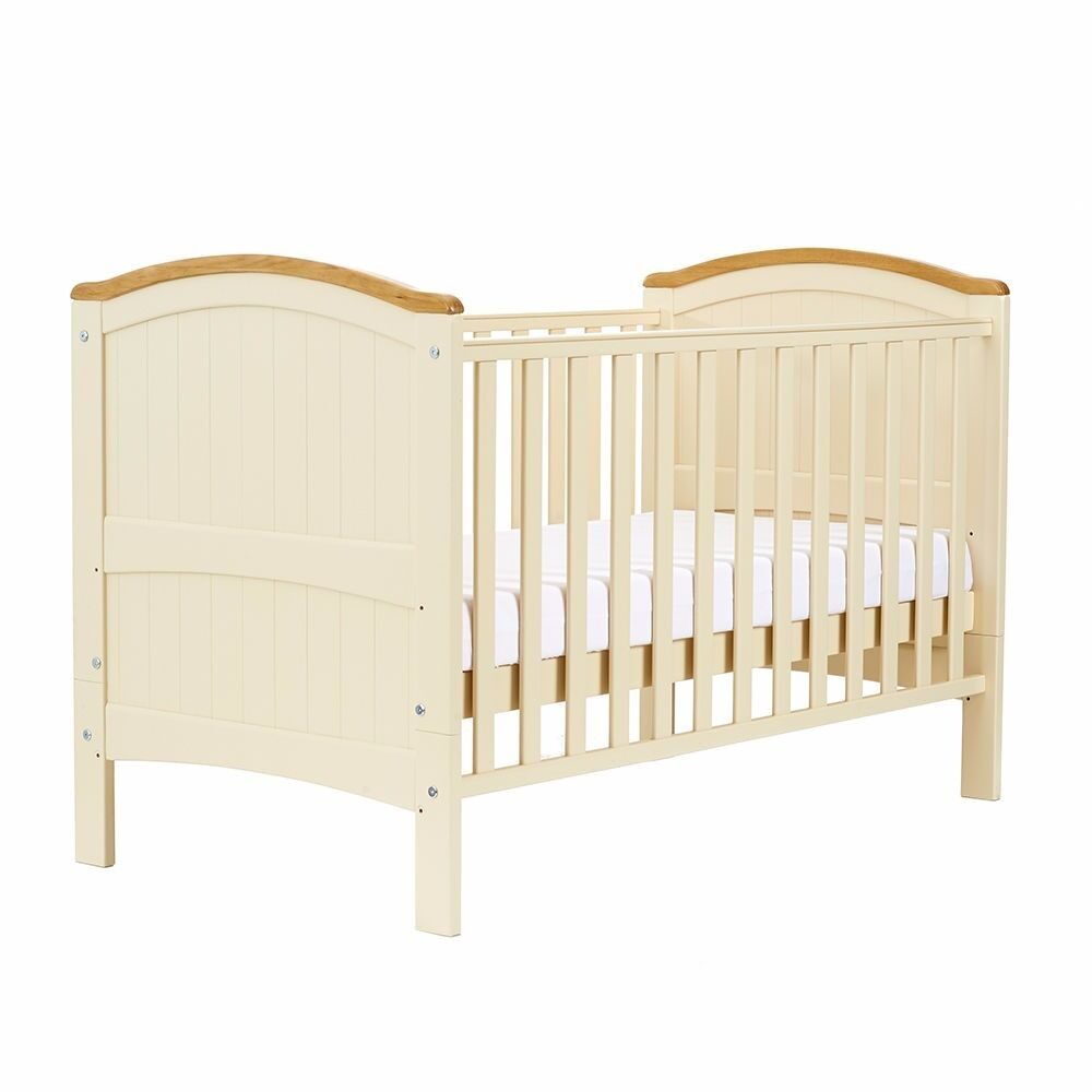 REDUCED***Henley cream cot/bed -used frame but brand new mattress ...