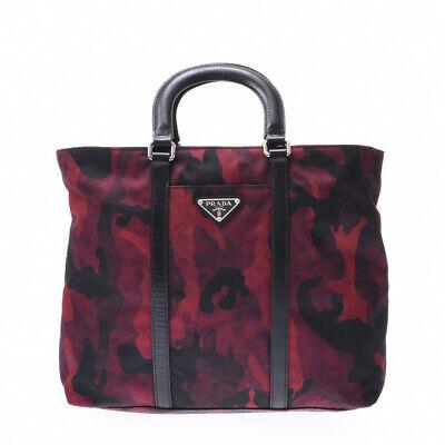 PRADA 2WAY bag Red / black (camouflage) BN2791 Hand Bag 800000084460000