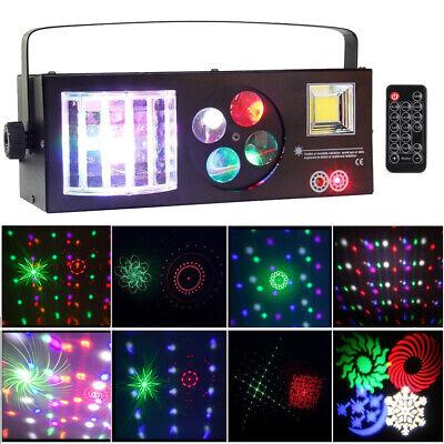 60W 4In1 DMX512 Pattern Strobe Laser Stage Lighting + Remote