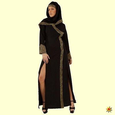 Kostüm Wüstenprinzessin Tunika schwarz/gold Arabische Schönheit Karneval - Arabische Schönheit Kostüm