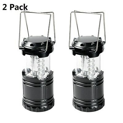 2 Ultra Bright Portable 30 LED Collapsible Camping Lantern Night Light Tent Lamp
