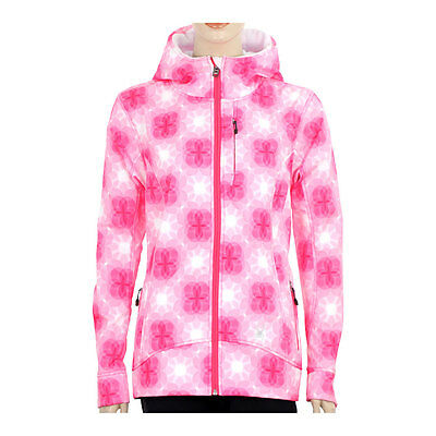 Womens Spyder Arc Softshell Soft Shell Ski Snowboard Jacket Hoodie Hot Pink XS