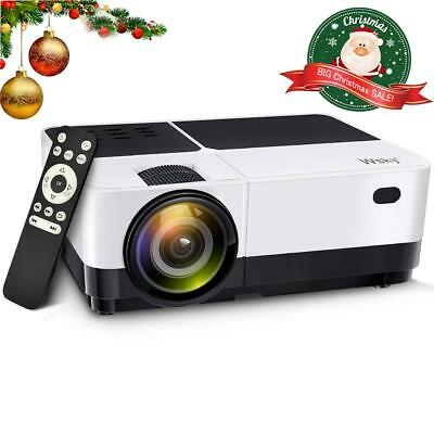 Wsky 2019 Best 2800 Lumens LCD LED Portable Home Theater Video Projector,