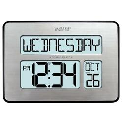 Atomic Full Calendar Digital Clock With Extra Large Digits - Perfect Gift For