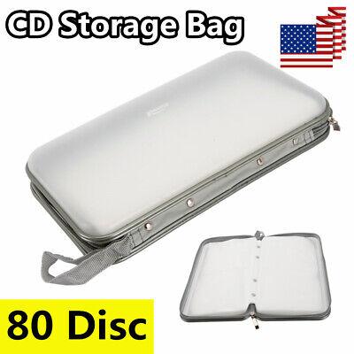 US Portable 80 Disc DVD CD Holder Organizer Storage Case Bag Album Wallet Media