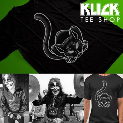KISS band T-shirt Peter Criss - Cadillac Michigan Black Cat S—5XL