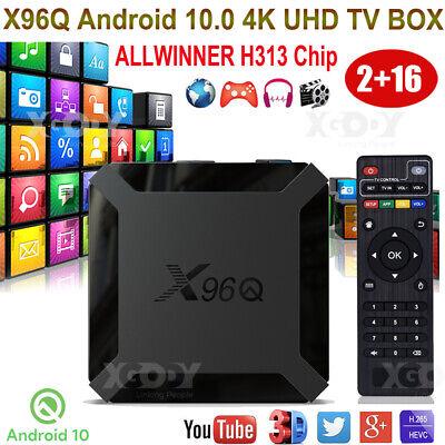 Android 10.0 X96Q 2+16G Smart TV BOX Quad Core WIFI H.265 G31 GPU ALLWINNER H313