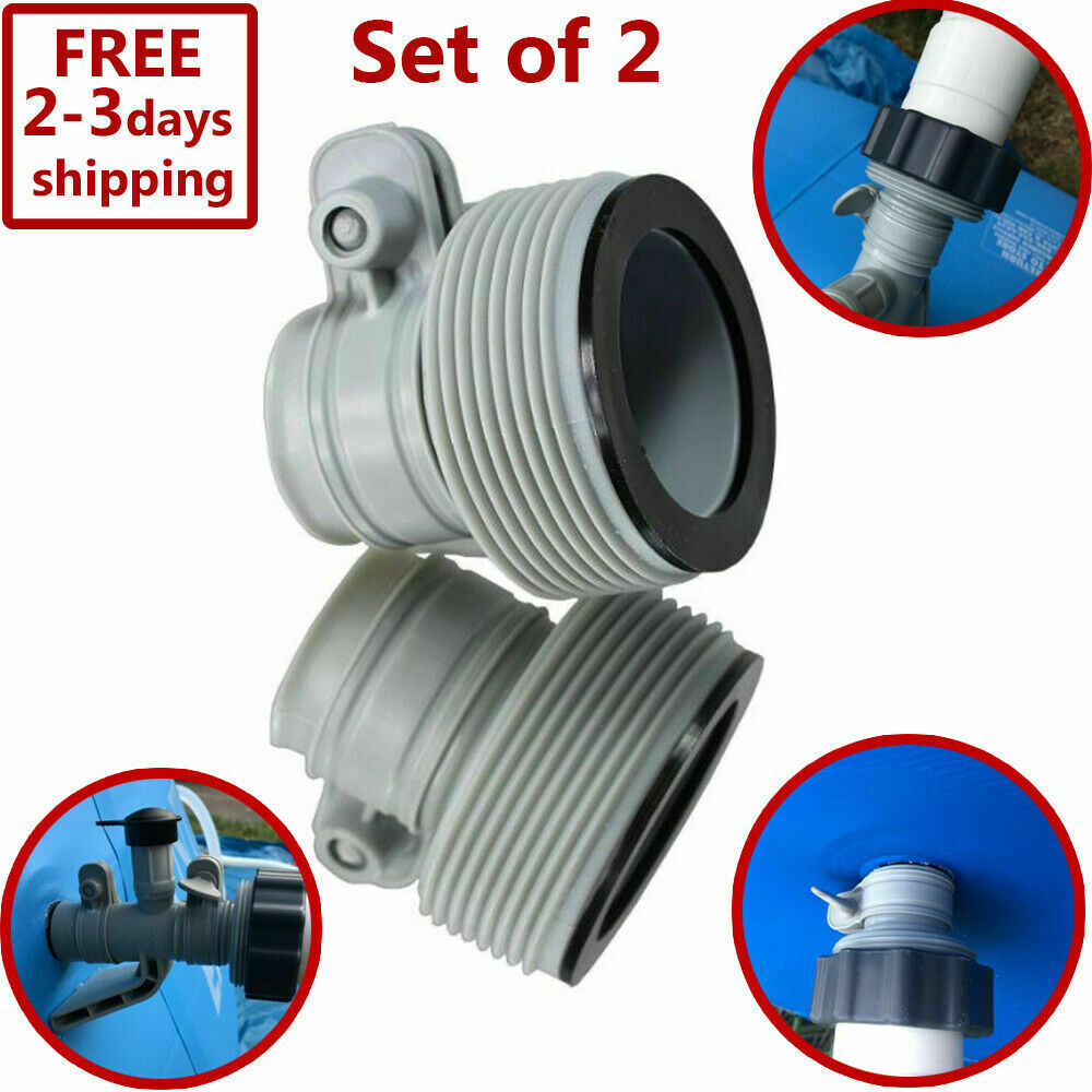 Replacement Hose Adapter 2 Set Pool Filter Pump Parts Conver