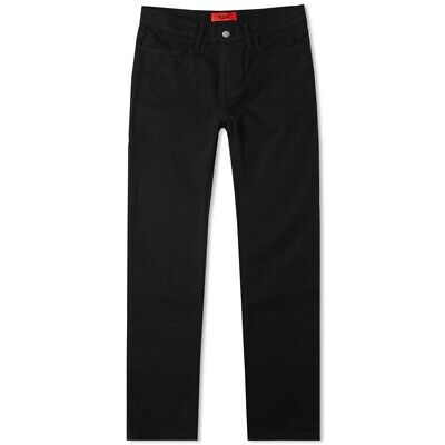 424 By Fairfax 4 Pocket Stretch Denim Pant Size W32 Slim Fit Black B