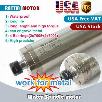 Us2.2kw 220v Cnc Waterproof Water Cooled Spindle Motor Er20 24000rpm Metal Cut