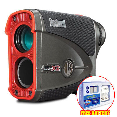 Bushnell Pro X2 Laser Rangefinder FREE 2x Rechargeable CR2 Battery w/ Charger
