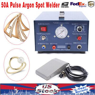 50a Pulse Argon Spot Welder Gold Silver Platinum Jewelry Welding Machine 110v Us