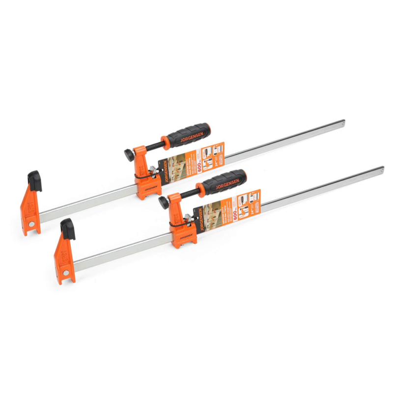 Jorgensen 2-pack Medium Duty Steel Bar Clamp Set, 24-inch