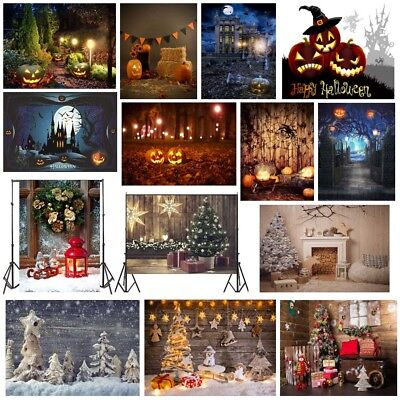 Christmas Halloween Photography Backdrops Studio Photo Background 5x7ft/7x5ft US