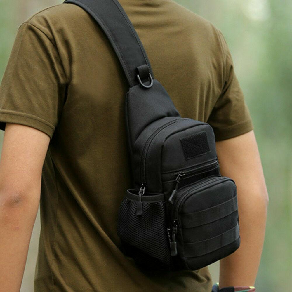 Men Outdoor Messenger Chest Pack Military Tactical Sling Waterproof Shoulder Bag Bags