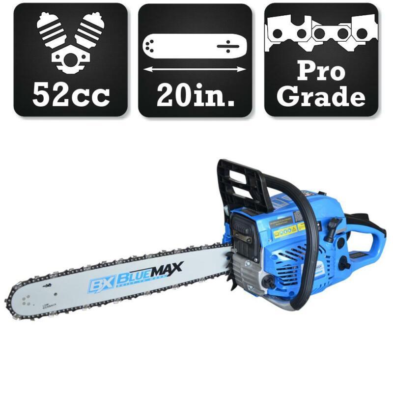 Blue Max Chainsaw Gas Adjustable Auto Chain Oiler Anti Vibra