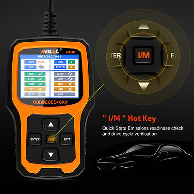 Ancel AD410 Automotive Car Diagnostic Tool OBD 2 Scanner Code Reader Analyzer