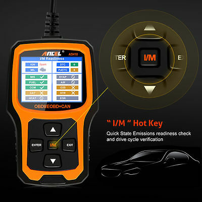 Ancel Ad410 Obd2 Automotive Code Reader Check Engine Light