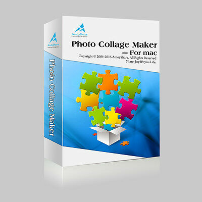 Amoyshare Photo Collage Maker MAC dt.Vollversion Lifetime Download nur 14,99 !