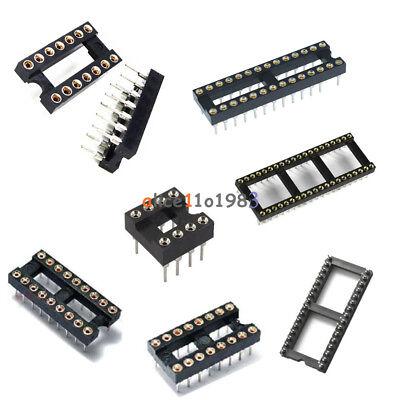 510pcs 8141618283240pin Sip Round Ic Sockets Adaptor Solder Gold Plated