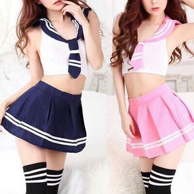 Japanese School Girl Students Sailor Uniform Sexy Anime Costume Skirt One Size ()
