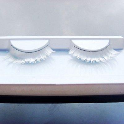 Feather Dance Fancy Lash Makeup Long Fake Eyelashes White False Eyelashes - Feather Fake Eyelashes
