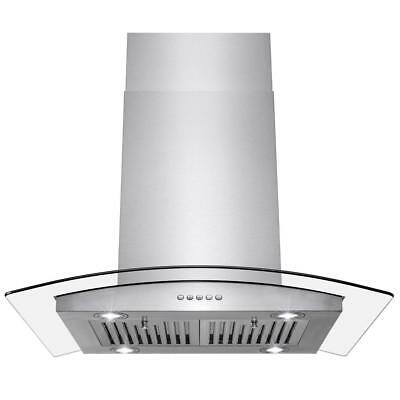 AKDY 30 in. Convertible Kitchen Island Mount Range Hood Stainless Steel