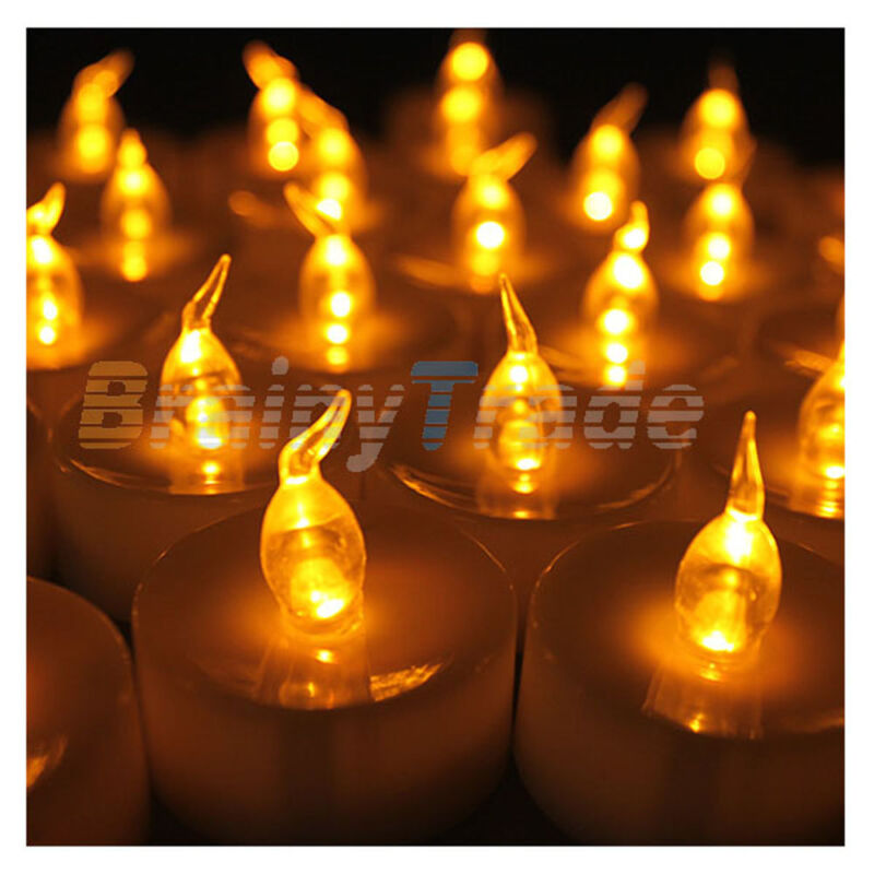 24pcs LED Tea Lights Battery Operated Flickering Flameless Candles with Timer