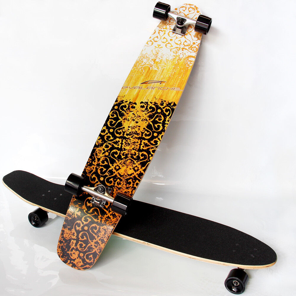 Profi Longboard ISkateboard komplett street waveboard ABEC 7 Board [Rapid Teck ]