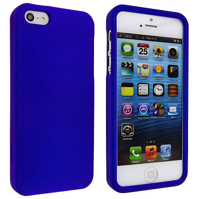 Blue Snap-On Hard Case Cover for iPhone 5 / (Blue Hard Case Snap)