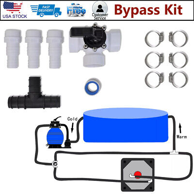 Bypass Kit for Pool Solar Heater Set Heating System Spa Accessories Part Plastic