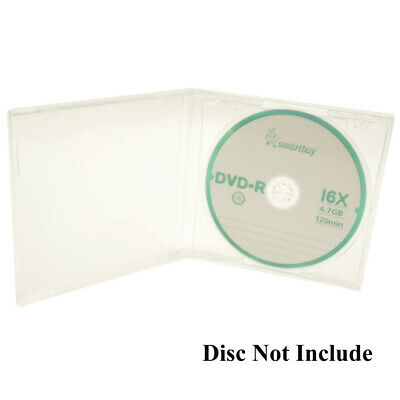 50 Standard 10.4 mm Jewel Case Single CD DVD Disc Storage Assembled Clear Tray
